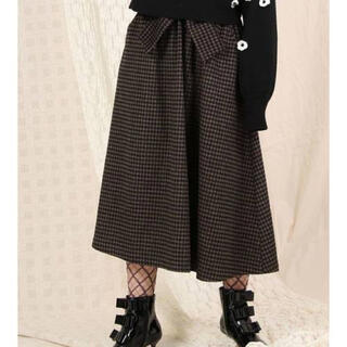 メリージェニー(merry jenny)のmerryjenny  リボンチェックフレアスカート(ロングスカート)