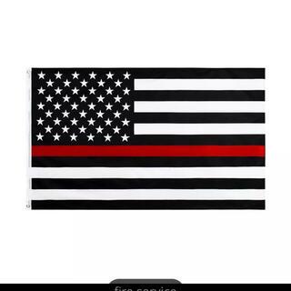 インテリア 壁掛け フラッグ 旗 90×150cm アメリカ レッドライン(その他)