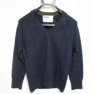 マーガレットハウエル(MARGARET HOWELL)のマーガレットハウエル 長袖セーター 2 M 黒(ニット/セーター)