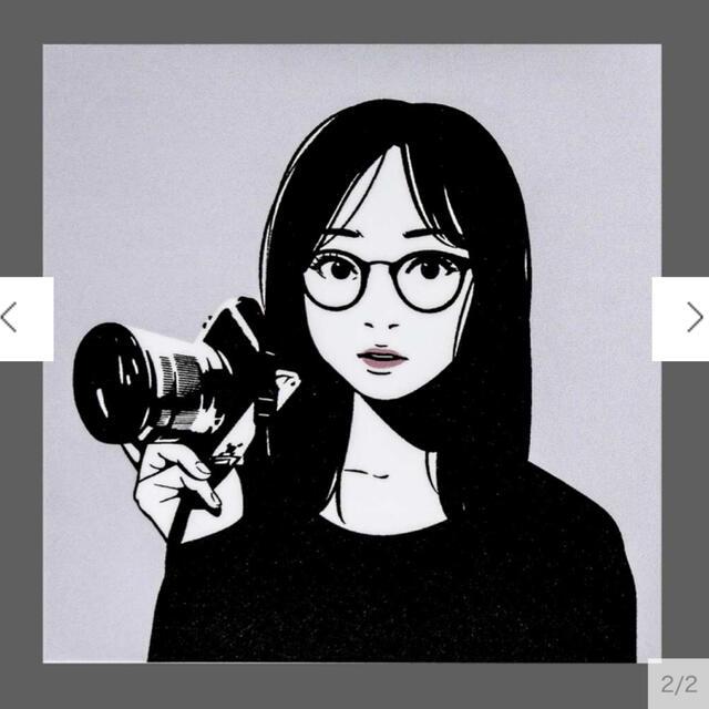 Backside works.  新作ステッカー ブラックブラック(グレー) エンタメ/ホビーのコレクション(印刷物)の商品写真