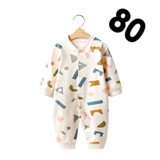 積み木柄 ロンパース 80 カバーオール ベビー 韓国子供服