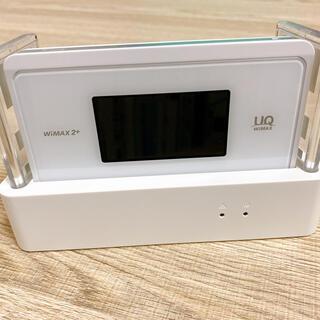 エヌイーシー(NEC)のWi-Fi WX06 白 & クレードル & LANケーブル(その他)