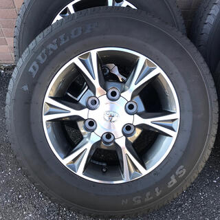 DUNLOP - ハイエース ダークプライム 純正オプションアルミホイール タイヤセット