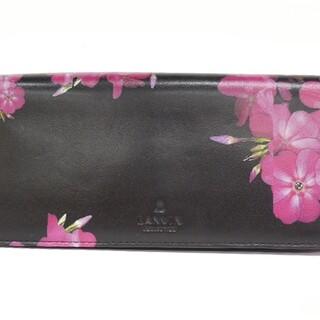 ランバンコレクション(LANVIN COLLECTION)のランバンコレクション 長財布 黒×ピンク(財布)