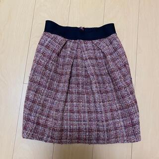 パターンフィオナ(PATTERN fiona)のパターン スウェードスカート❤美品(ひざ丈スカート)