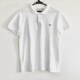 メゾンキツネ(MAISON KITSUNE')のメゾンキツネ 半袖ポロシャツ サイズS - 白(ポロシャツ)