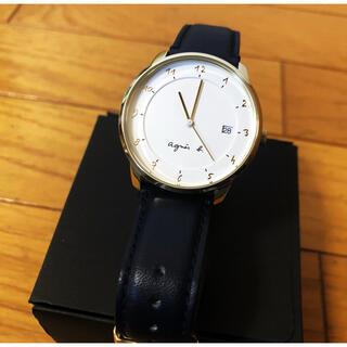 アニエスベー(agnes b.)の★一度のみ着用★agnesb マルチェロ 腕時計 ネイビー(腕時計(アナログ))