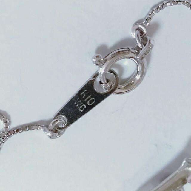 K10ホワイトゴールドガーネットネックレス、ピアス2点セット レディースのアクセサリー(ピアス)の商品写真