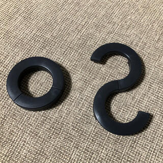 MUJI (無印良品) - 無印 トラベルS字フック 黒 2個セット