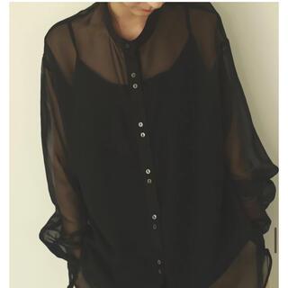 louren seethrough button blouse