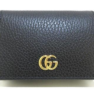 Gucci - グッチ 2つ折り財布美品  GGマーモント 黒