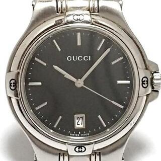 Gucci - GUCCI(グッチ) 腕時計 - 9040M メンズ 黒