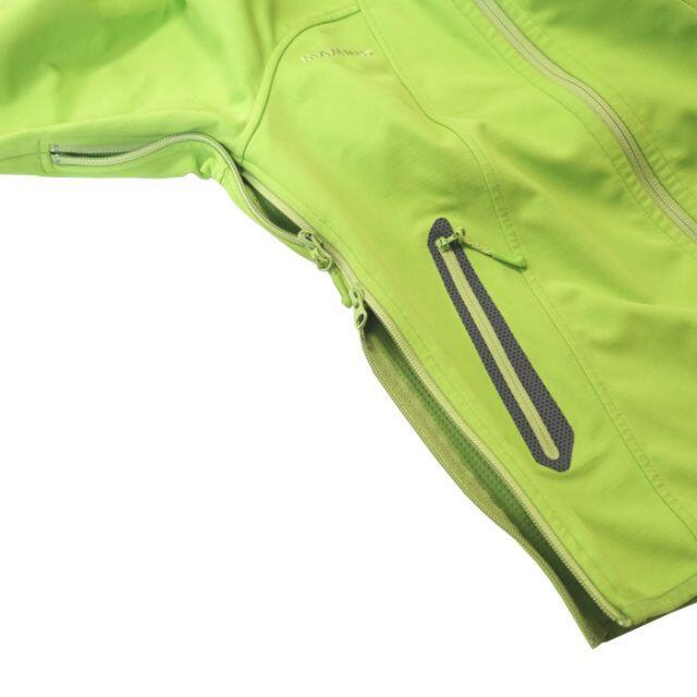 Mammut(マムート)のマムート レディース アルティメイトフーディー ソフトシェルパーカー L 黄緑 スポーツ/アウトドアのアウトドア(登山用品)の商品写真