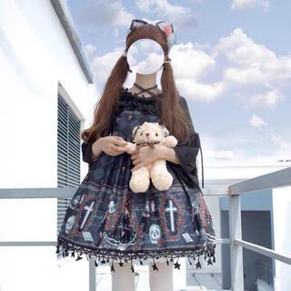 病み ゴスロリ 原宿 午後のゴス姫 豪華ドレスセット(衣装一式)