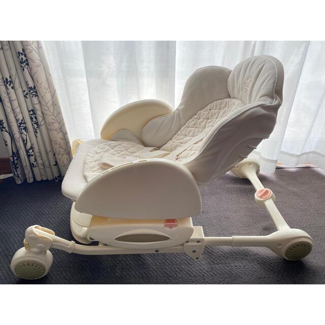 Aprica(アップリカ)のAprica ハイローベッド&チェア コンパクト 手動 キッズ/ベビー/マタニティの寝具/家具(ベビーベッド)の商品写真