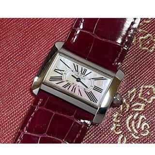 Cartier - ☆極美品☆ カルティエ ミニタンク ディヴァン ピンクシェル レディース/腕時計
