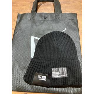 フラグメント(FRAGMENT)のミリタリーニット フラグメントデザイン パッチ ブラック(ニット帽/ビーニー)