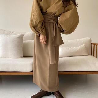 Kastane - lawgy original wrap skirt【beige】
