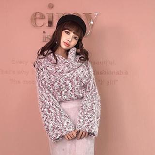 eimy istoire - eimy まなみさん着用 ニット ピンク 可愛い