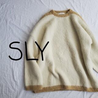 SLY - SLY スライ オーバーサイズ モヘアニットセーター