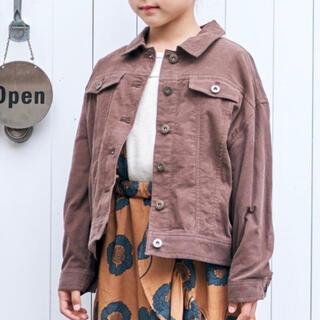 allolun. コーデュロイジャケット シャツ ブラウン チョコ 100(ジャケット/上着)