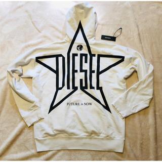 DIESEL - 【美品】DIESEL ディーゼル パーカー ホワイト ロゴ