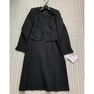 ニッセン(ニッセン)のブラックノーカラーフォーマルアンサンブル 17号(礼服/喪服)