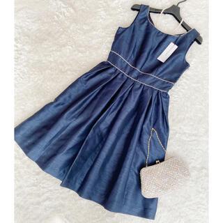 ペイトンプレイス(Peyton Place)の新品タグ付き ペイトンプレイス サテンワンピース Lサイズ ドレス(ひざ丈ワンピース)