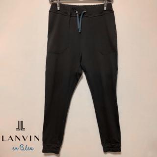 ランバンオンブルー(LANVIN en Bleu)の【送料込・美品】LANVIN en Bleu ジャージジョガーパンツ 46(S)(デニム/ジーンズ)