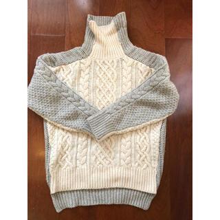 ブランバスク(blanc basque)のblanc basque アシメ厚手タートルニット 38サイズ(ニット/セーター)