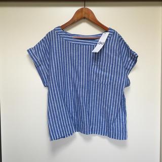 ジーユー(GU)のリネンブレンドTブラウス(シャツ/ブラウス(半袖/袖なし))