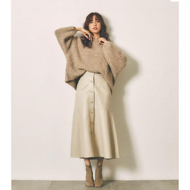 rienda(リエンダ)のrienda フェイクレザーマーメイドスカート レディースのスカート(ロングスカート)の商品写真