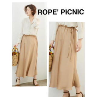 Rope' Picnic - 一度のみ着用  ROPE' PICNIC サテンサイドリボンマーメイドスカート