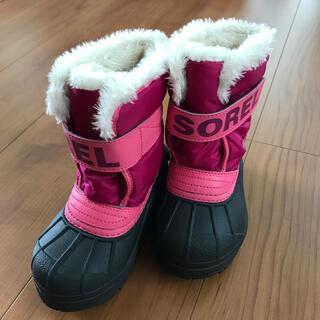 ソレル(SOREL)の美品 値下 SOREL ソレル スノーブーツ サイズ14センチ(ブーツ)