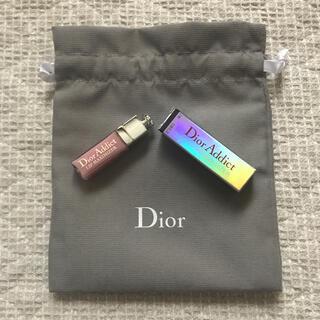 Dior - Dior  アディクト リップ マキシマイザー(ミニグロス)と巾着