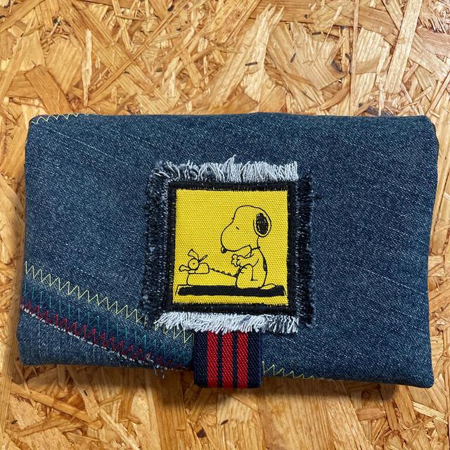 蛇腹カードケース   ハンドメイド  スヌーピーハンドメイド   デニムリメイク ハンドメイドの生活雑貨(雑貨)の商品写真