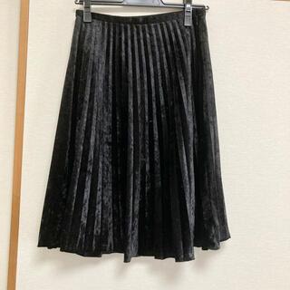コムサイズム(COMME CA ISM)のCOMME CA ISM ベロア プリーツ スカート(ひざ丈スカート)