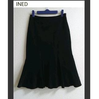 INED - 中古品 INED コーデュロイ ひざ丈スカート