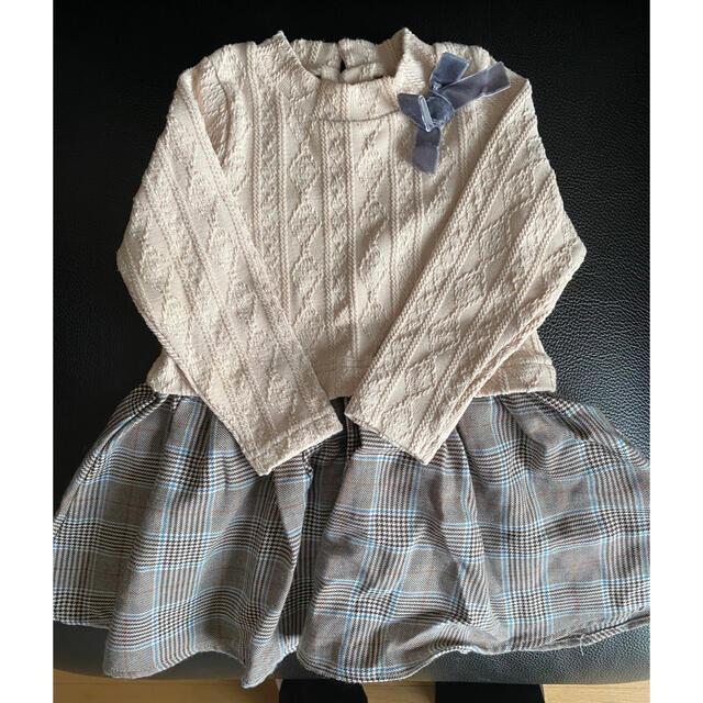 petit main(プティマイン)のプティマイン ワンピース 90センチ キッズ/ベビー/マタニティのキッズ服女の子用(90cm~)(ワンピース)の商品写真
