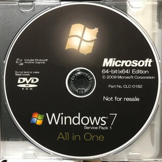 Microsoft - MS Windows7 64bit(x64) 全エディションインストールディスク