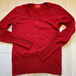 ヴィヴィアンウエストウッド(Vivienne Westwood)のVivienne Westwood red label セーター 赤 サイズ3(ニット/セーター)