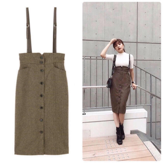 PROPORTION BODY DRESSING - プロポーション 新作 サスペンダー付きワークタイトスカート