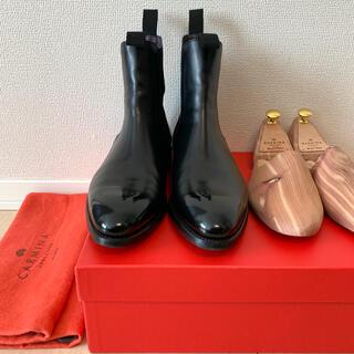 クロケットアンドジョーンズ(Crockett&Jones)のCARMINA サイドゴアブーツ UK7 極上品 純正シューツリー付属(ブーツ)