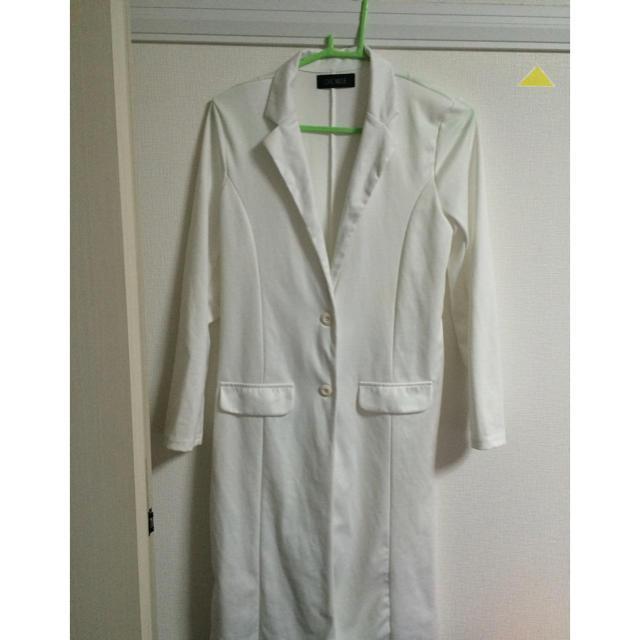 GALSTAR(ギャルスター)のホワイト ロングジャケット レディースのジャケット/アウター(テーラードジャケット)の商品写真