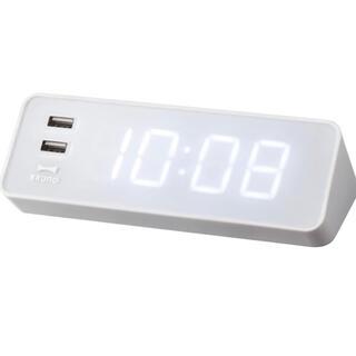 イデアインターナショナル(I.D.E.A international)の【新品・未使用】BRUNO USB電源付き LED電波時計(置時計)