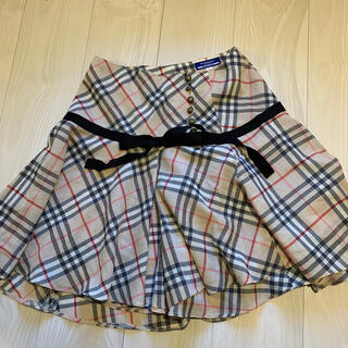 バーバリーブルーレーベル(BURBERRY BLUE LABEL)のBurberry バーバリーブルーレーベル チェック スカート36(ミニスカート)