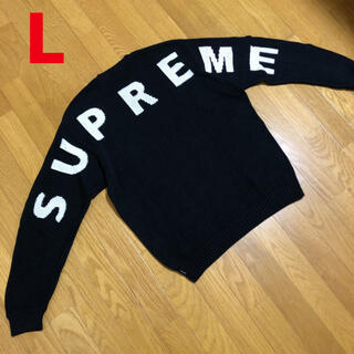 Supreme - supreme  back logo sweater セーター キムタク
