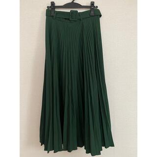 ZARA - ZARA 同素材ベルト付きプリーツスカート