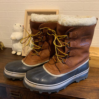 ソレル(SOREL)のSORELカリブーウール ボア ブーツ 28cm防水本革フルグレイン (ブーツ)