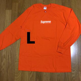Supreme - Supreme Box logo L/S Tee ロンT Tシャツ orange